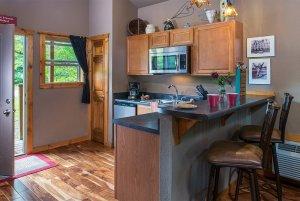 get'n squirrelly cabin kitchen
