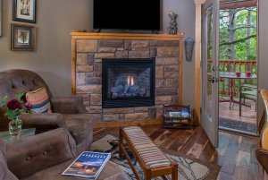 get'n squirrelly cabin fireplace