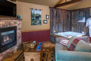 just a bear getaway fireplace