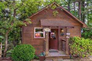 just a bear getaway cabin exterior