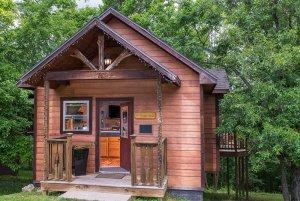 just moosen around cabin exterior