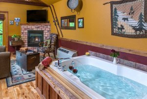 moose recluse tub and fireplace