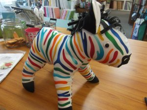 Zebra made from QT Fabrics Panel