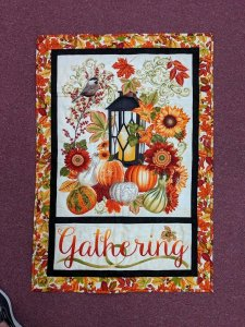 Fall Gatherings Wall Hanging