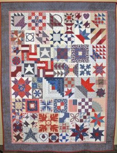Florence Evans, Americana Sampler, Pieced-Large 1st