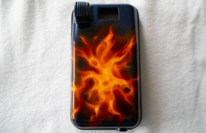 Custom painted Featherweight dragon and flame foot pedal