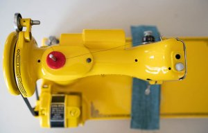 Singer Featherweight 221 painted yellow top