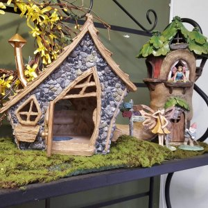 Fairy brick and log house