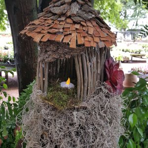 Stick fairy house