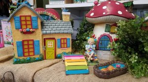 Boot fairy house in large garden