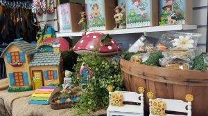 Product display for fairy gardens