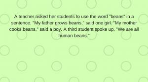 A joke about beans