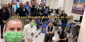 Cottage Hospital Masks in use!