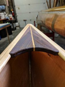 Canoe Repair - Wood Rerail
