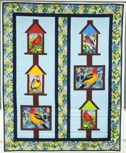 Mosaic Bird Houses Quilt
