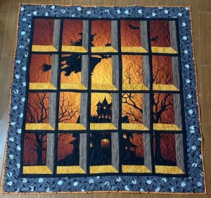 Ester W Halloween Window