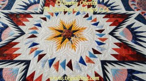 Glacier Star pattern by Judy Neimeyer.  Quilted by Tammy Oberlin.