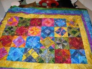Fox lap quilt