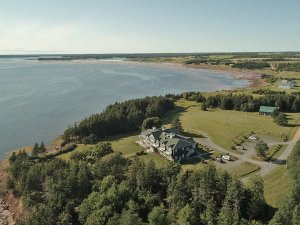 aerial view of Inn at Spry Point