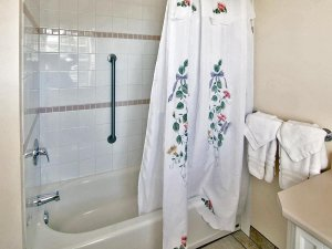shower tub combo with grab bar