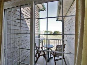 small deck through sliding door