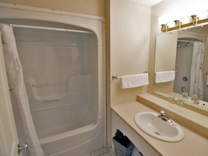 shower tub combo and sink
