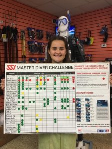 New Master Scuba Diver with tally board