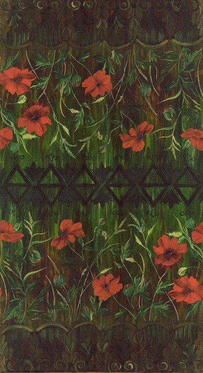 136-0202 Poppies - Terra Cotta