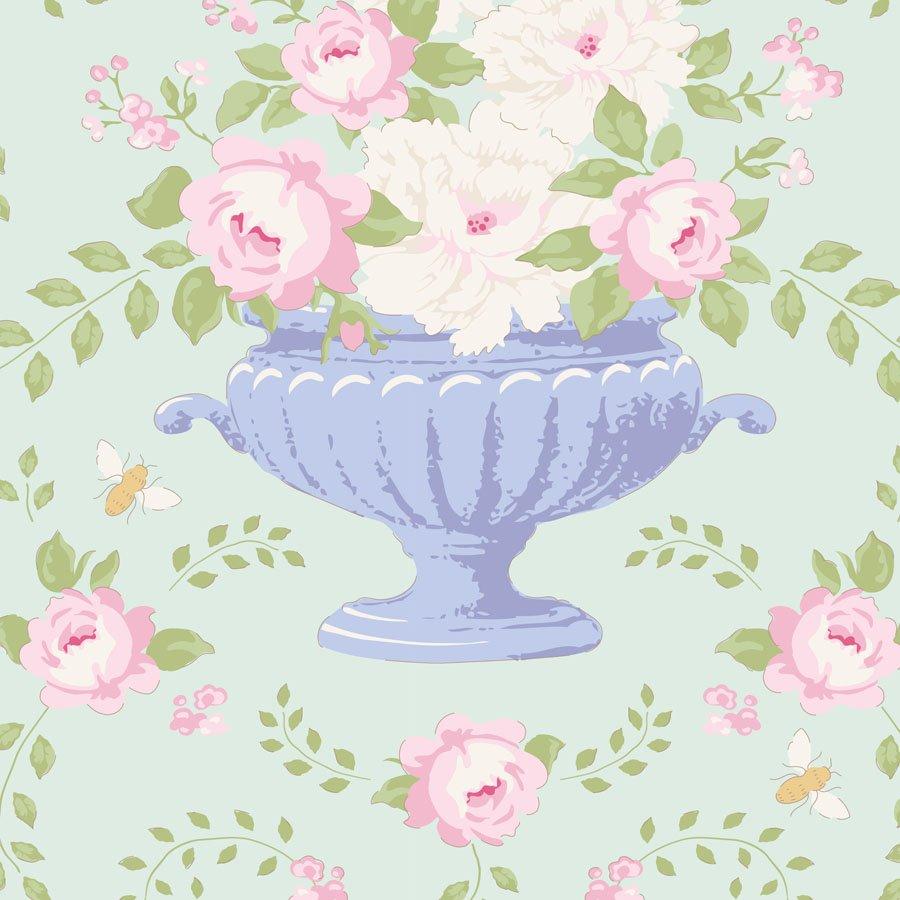 100236-flower bees-teal