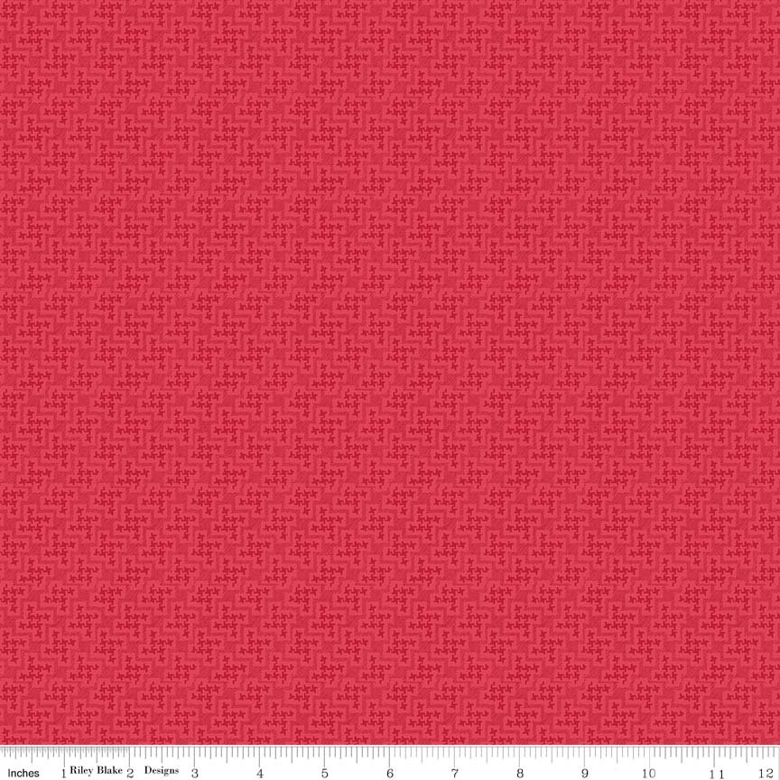 C6045_RED_Strawberry Houndstooth
