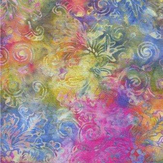 Floral Outline - Rainbow