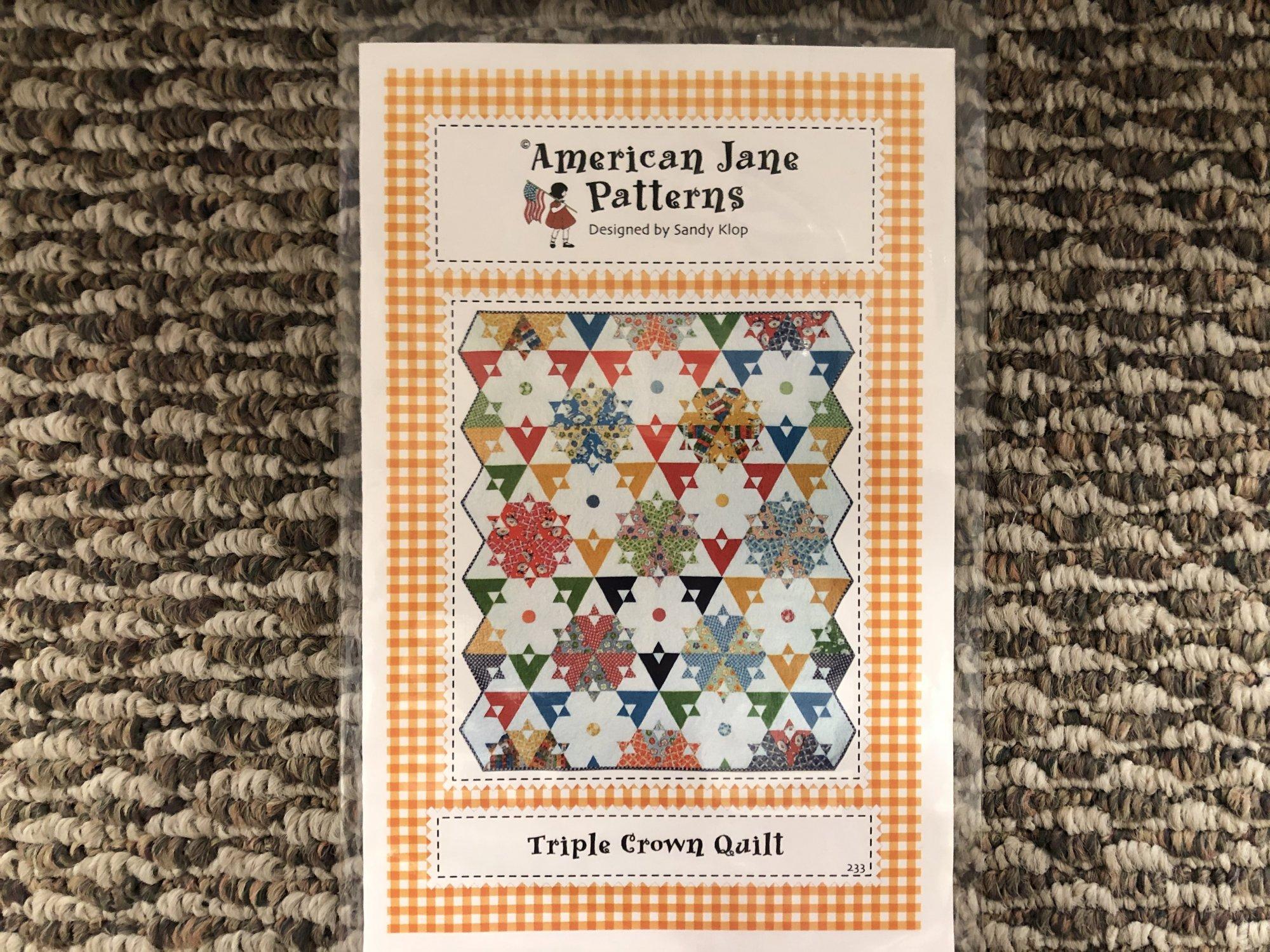 Triple Crown Quilt Pattern 233