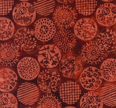 Floral Circles Cinnamon Bali Handpaints