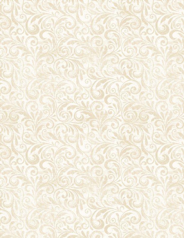 Sundance Meadow Scroll Cream<br/>Wilmigton Prints 33852-111