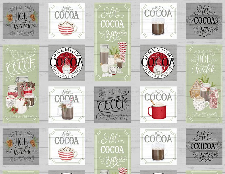 Hot Cocoa Bar Panel<br/>Wilmington Prints 27595-971