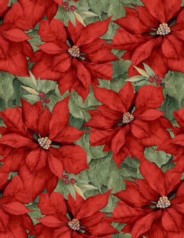 Poinsettias Red<br/>Wilmington Prints 39639-375