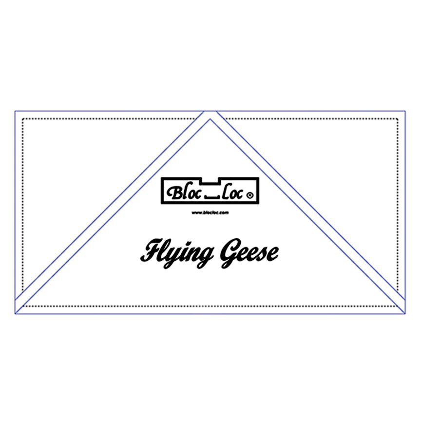 Flying Geese Ruler 2 x 4<br/>Bloc Loc