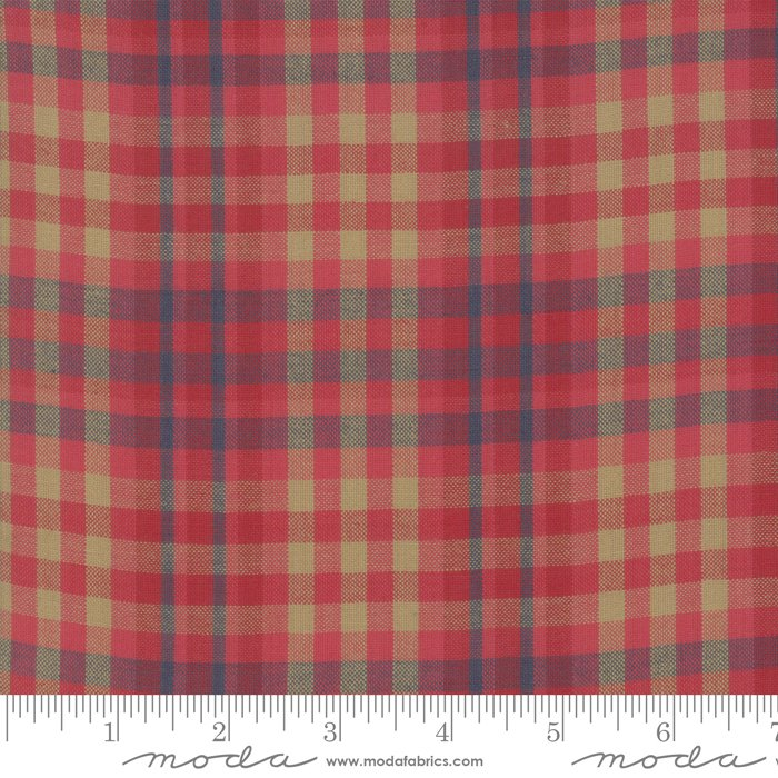Northport Silky Plaid Red Tan<br/>Moda 12215-33