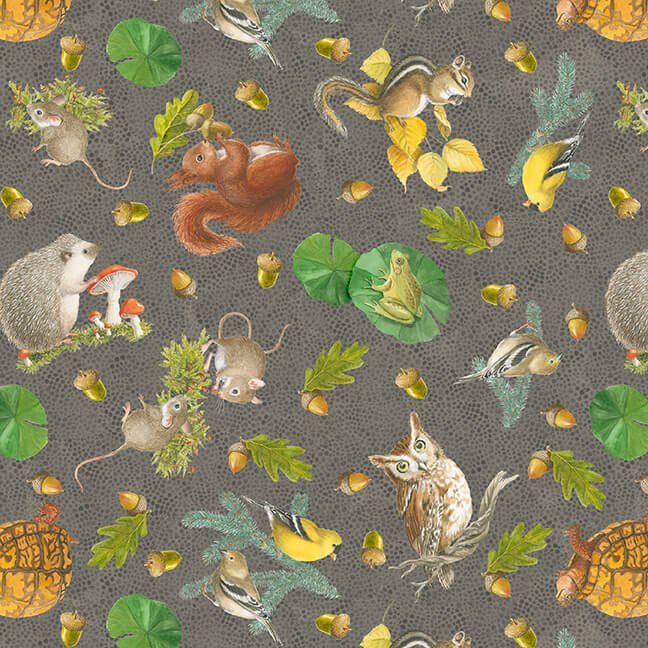 Nature Trail Animal Toss Taupe<br/>Blank 1233-36