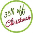 35% off Christmas