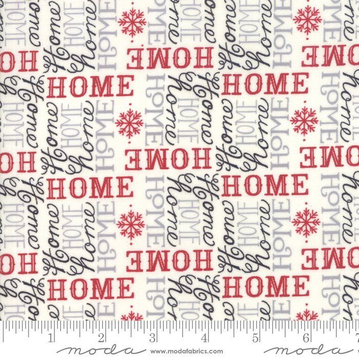 Always Home Text White Multi<br/>Moda 19894-14