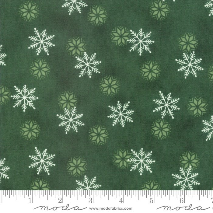 Holiday Lodge Snowfall Evergreen<br/>Moda 19896-13