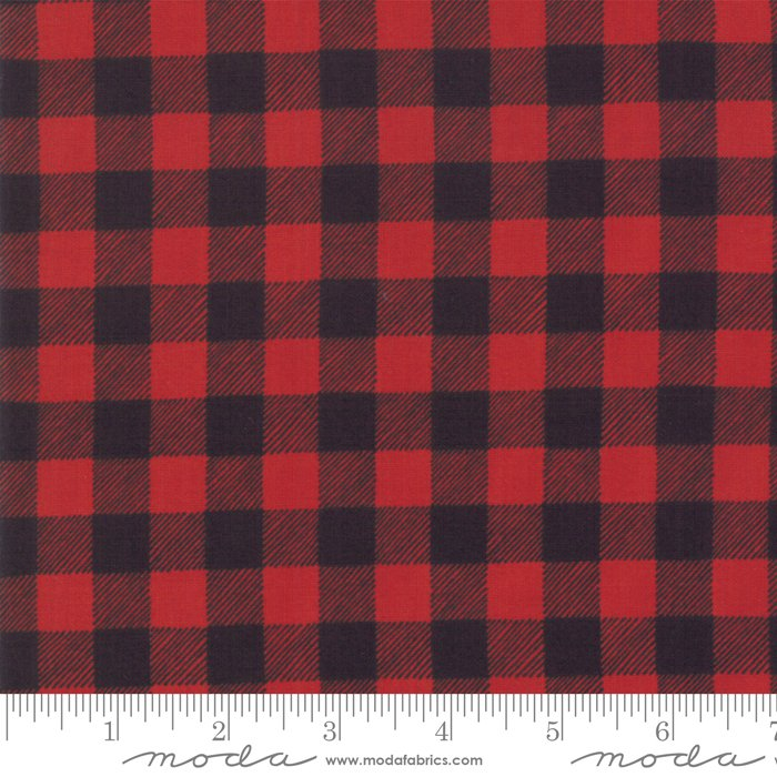 Buffalo Plaid Red Charcoal<br/>Moda 19897-12