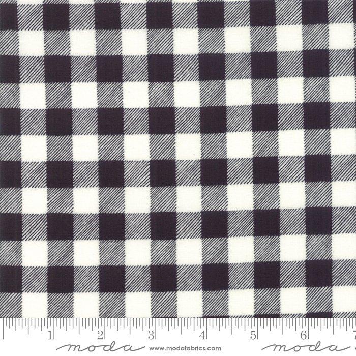 Buffalo Plaid Charcoal White FQ<br/>Moda 19897-13