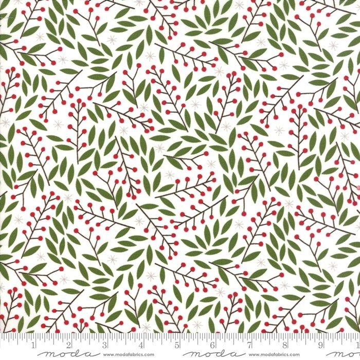 Merriment Holly Berries Snow<br/>Gingiber / Moda 48273-11