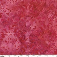 Raspberry Scrolls Batik