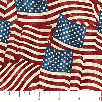 American Flags Allover<br/>Northcott 20158-49