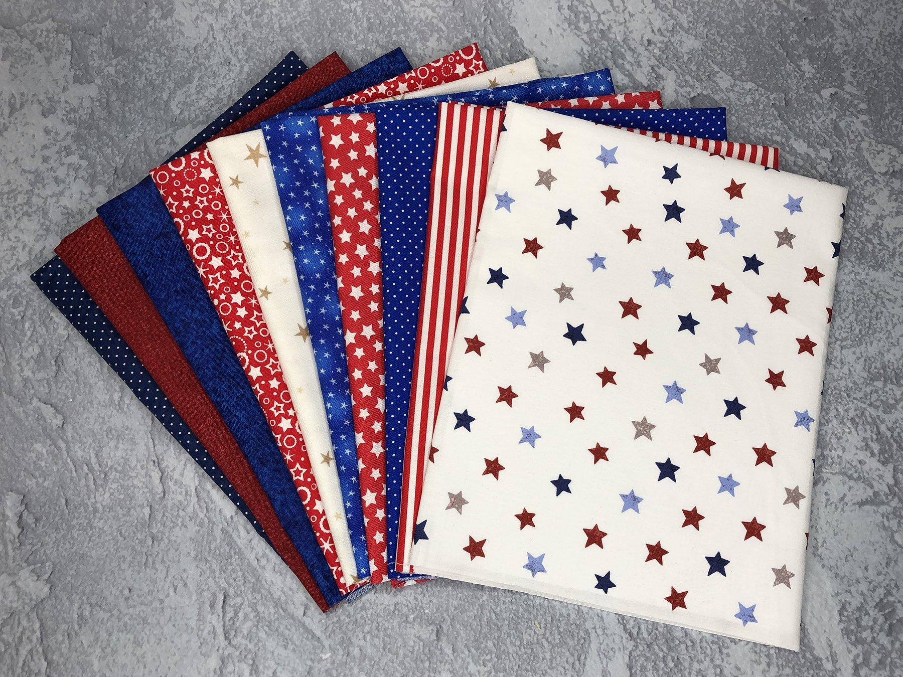 FQ Bundle Patriotic Cottons<br/>GSF House Mix