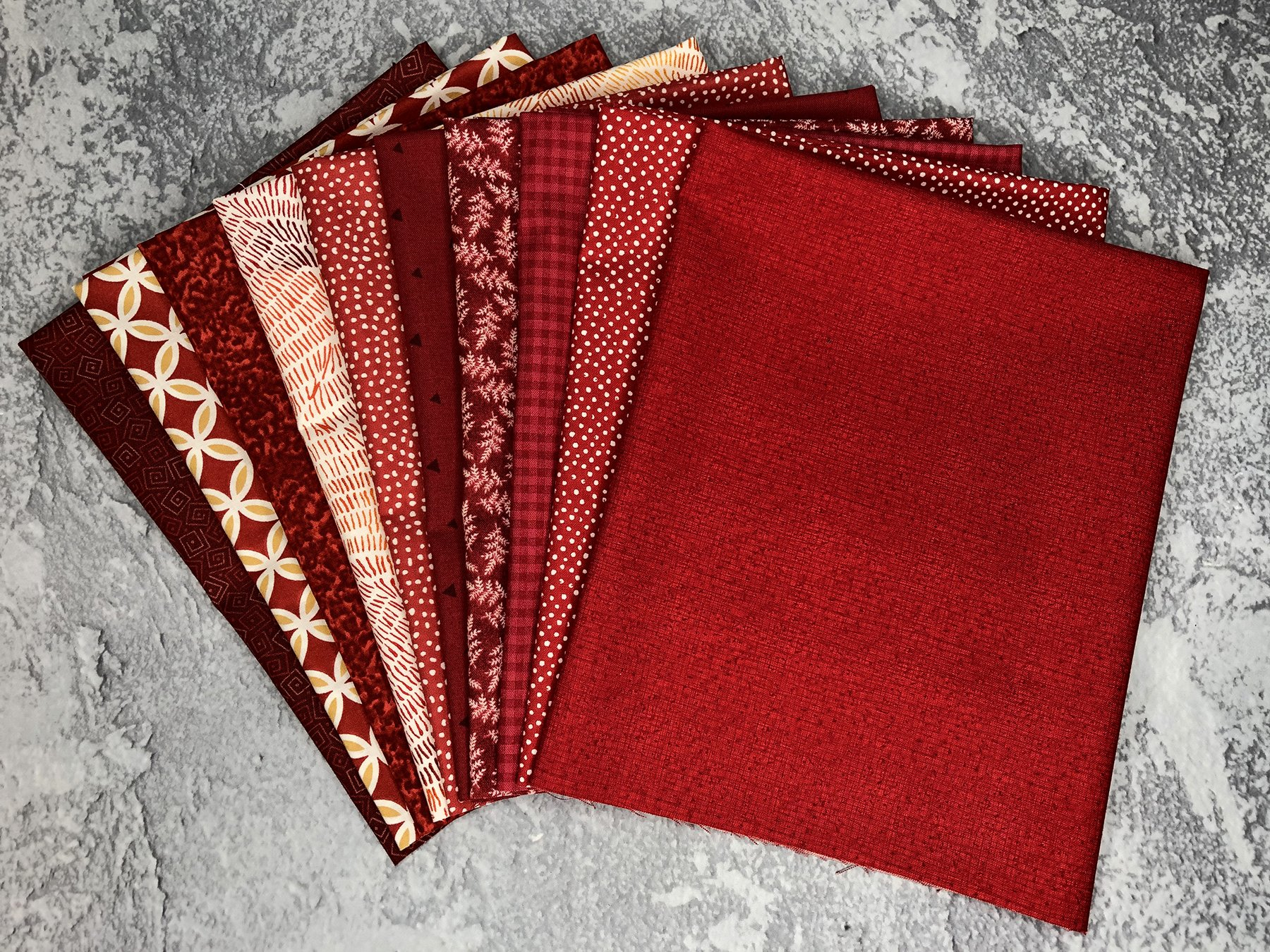FQ Bundle Red Cottons<br/>GSF House Mix