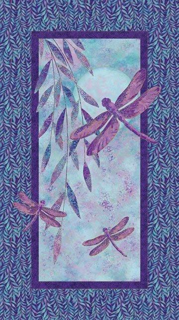 Dragonfly Moon Panel Purple/Blue<br/>Northcott 22559M-85